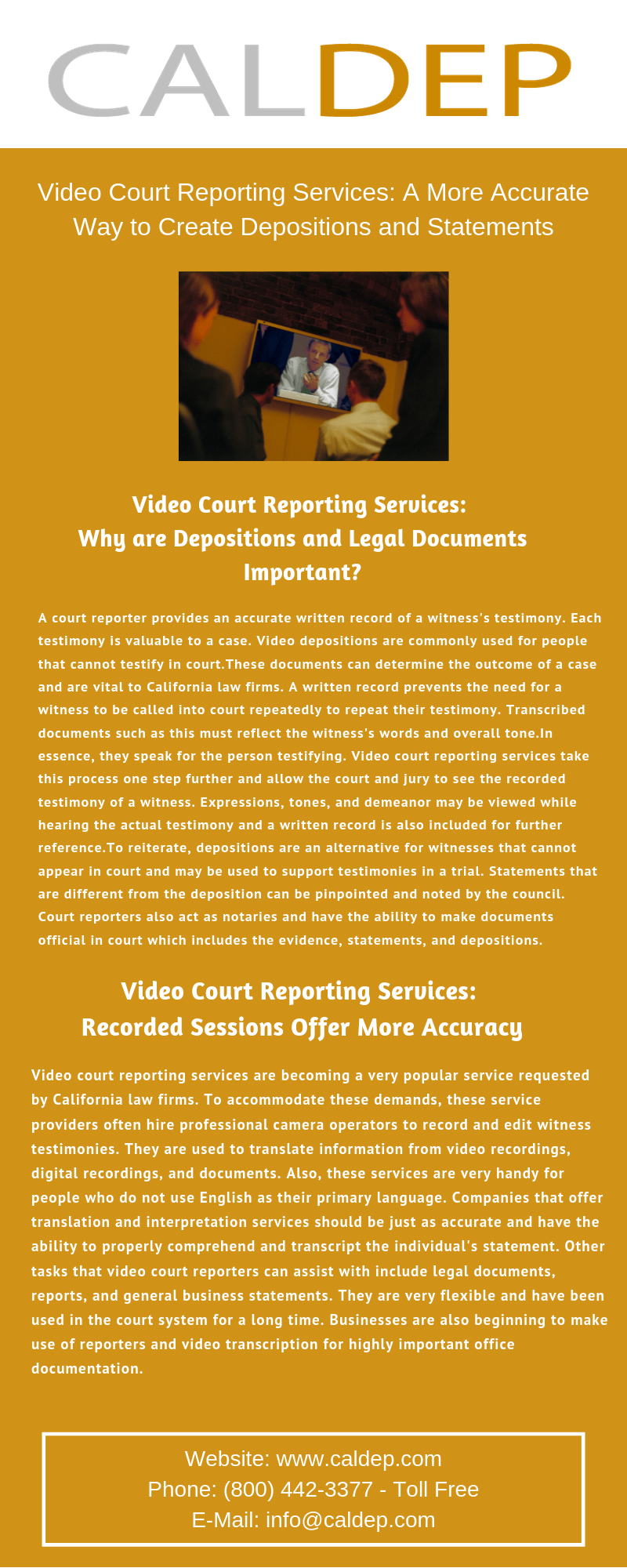 video court reporting california